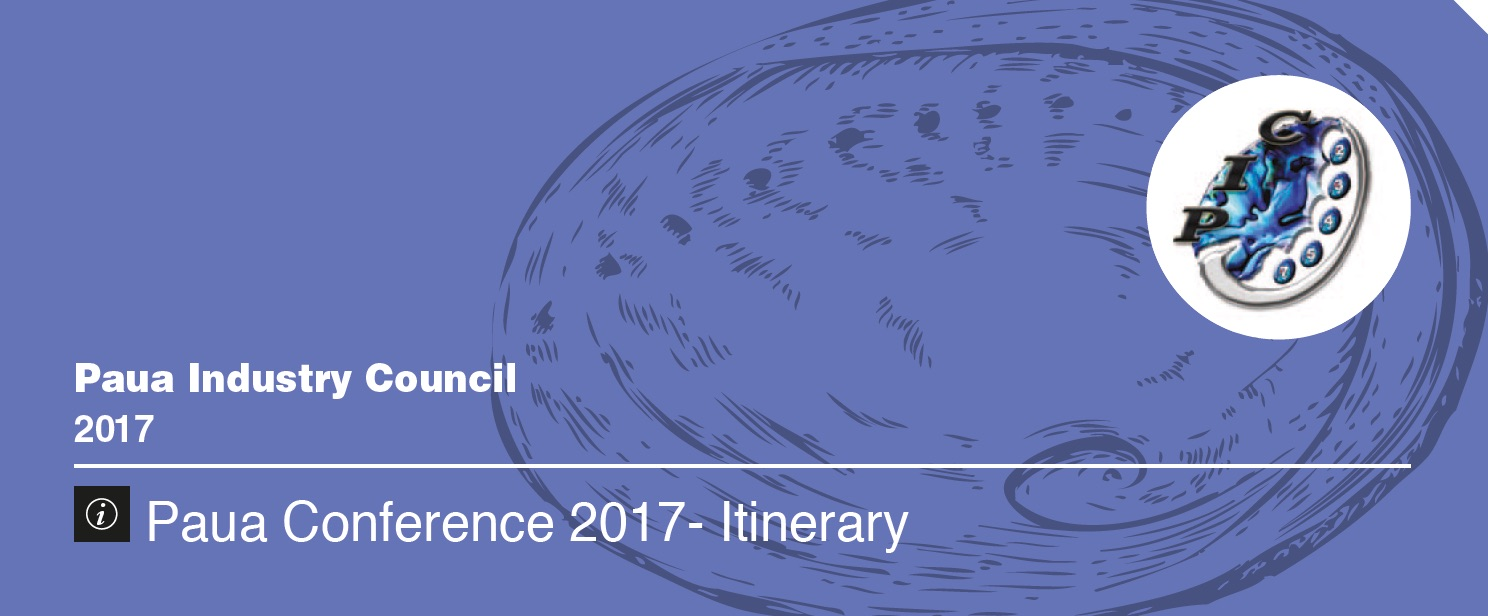 Paua Conference 2017 – Itinerary – August 24/25